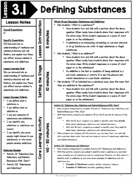 {Grade 9} Unit 3: Substance Use, Addictions, and Related Behaviours Unit