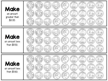 {Grades 1 - 4} Canadian Coin Representation Strips