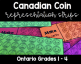 {Grades 1 - 4} Canadian Coin Representation Strips