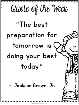 {Grades 3 - 6} Quote of the Week Activity Packet
