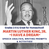 """MLK Jr. """"I Have a Dream"""" Speech Analysis for Grades 2-5 #g"""