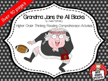 """""""Grandma Joins the All Blacks"""" - HOT reading comprehension activities"""