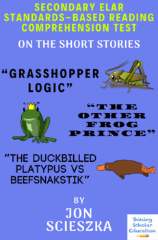 """Grasshopper..."" ""...Frog Prince"" ""Duckbilled..."" by Jon Scieszka Reading Test"