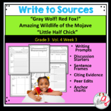 """""""Gray Wolf! Red Fox!"""" Amazing Wildlife of the Mojave    """"Little Half Chick"""" Writ"""