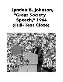 """Great Society Speech"" (1964) by Lyndon B. Johnson (Full-T"