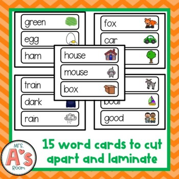 Ham and Eggs Word Cards