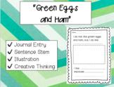 """Green Eggs and Ham"" Writing Journal (Read Across America)"