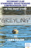 """Greyling"" Short Story Multiple-Choice Reading Comprehension Quiz Test"