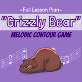 """""""Grizzly Bear"""" Melodic Contour Lesson, Slides, and Rhythm Manipulatives"""