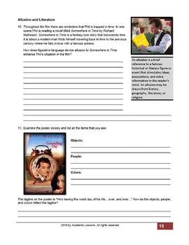 """Groundhog Day"" EDITABLE COMPLETE UNITActivities,Analysis,Tests,Essay,PowerPoint"