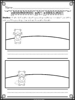 """Groundhog Day"" (Groundhog Day/February Emergent Reader Dollar Deal)"