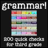 {Growing Bundle!} 3rd Grade Grammar Exit Tickets/Assessments