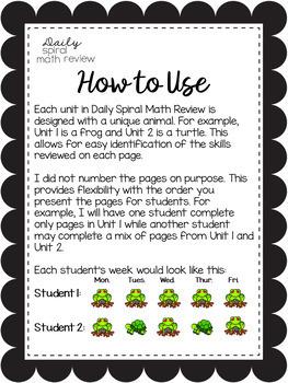 {{Growing Bundle}} Daily Spiral Math Review/ Morning Work/ Homework