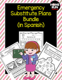 Emergency Sub Plans Bundle in Spanish (kindergarten)
