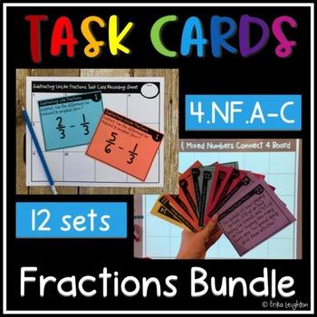 *Growing Bundle* Fractions Task Cards