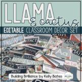 Llama & Cactus Classroom Decor Set (EDITABLE!)
