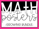 *Growing Bundle* - Math Anchor Charts/Posters
