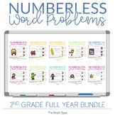 2nd Grade Numberless Word Problems | Distance Learning Dig