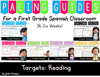 *Growing Bundle Reading Pacing Guides For a First Grade Sp
