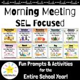 *Bundle* SEL Morning Meeting Slides & Workbook (Social Emo