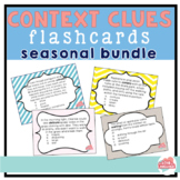 *COMPLETED*  Bundle-- Seasonal Context Clues Flashcards Grades 3-5