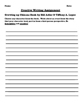 """Growing up Chicana"" by Bill Adler & Tiffany A. Lopez Creative Writing"