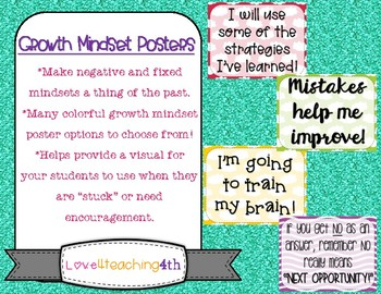 *Growth Mindset/Encouragement Posters