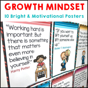 Growth Mindset Posters motivational quotes to inspire students