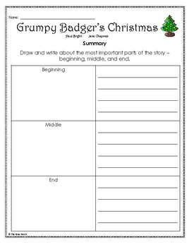 """Grumpy Badger's Christmas"" Activities for Reading, Writing, and Fun"