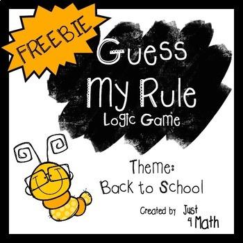 """Guess My Rule"" Logic Game: Back to School Theme FREEBIE"