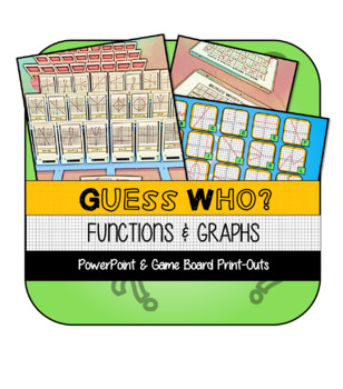 """Guess Who?"" Functions and Graphs Guessing Game"
