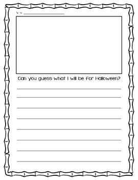 """Guess my Halloween Costume"" Descriptive Writing"