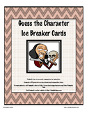 """""""Guess the Character"""" Ice Breaker Cards"""
