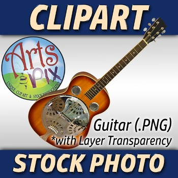 """Guitar"" Clipart Stock Photo of a Bluegrass Acoustic Guitar"