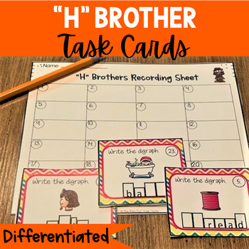 """H"" Brothers Task Cards (Includes: Sh, Ch, Th, Wh)"