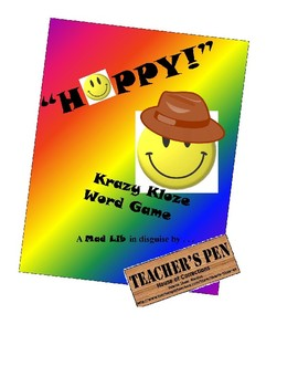 """H:)PPY"" Pop Songs Krazy Kloze: A Mad Lib in Disguise"