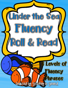 Under the Sea Fluency Phrase Roll & Read (All 6 Levels!)