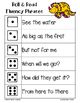 Dinosaur Fluency Phrase Roll & Read 6 Levels {PRINT AND PLAY}