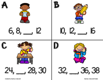 Number Pattern Missing Number Scoot Set (6 Games) mClass