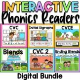 Digital Phonics Readers Bundle for Google and Seesaw
