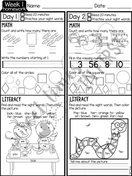 EDITABLE First Grade Homework {Quarter 1}