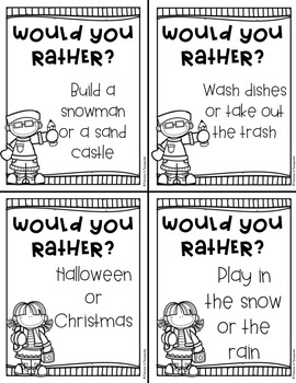 Back to School Would You Rather