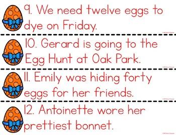 Easter Sentence Editing