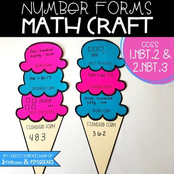 number forms math craft by kristi dunckelman pelicans and pipsqueaks