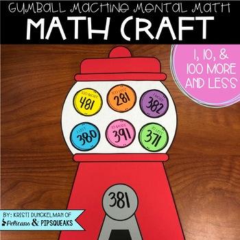 Mental Math Gumball Machine Craft