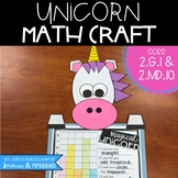 Unicorn Shape Graphing Math Craft