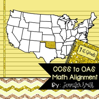 FREEBIE First Grade Oklahoma Academic Standards Math Alignment