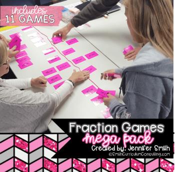 Fraction Games Mega Pack - Set of 11 Fraction Games