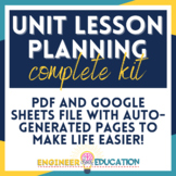 Editable Unit Planning Template: Year Overview, Checklists