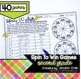 Second Grade Spin to Win   Centers for Math Workshop or Practice